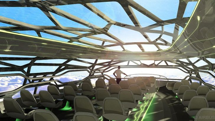 Airbus's Glass Exterior Aircraft Design Predicted to Launch by 2050